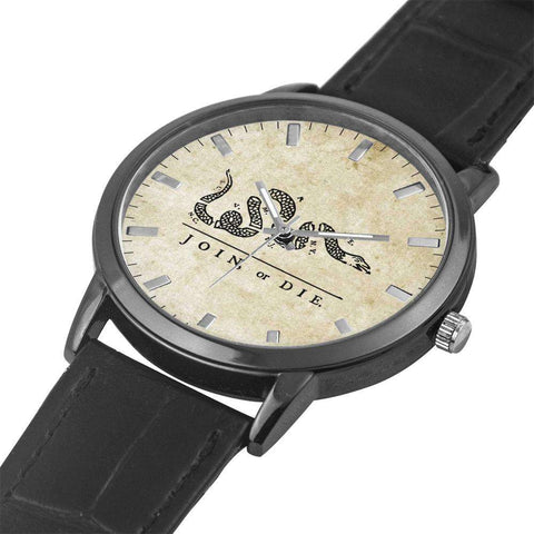 Image of Join Or Die Leather Watch