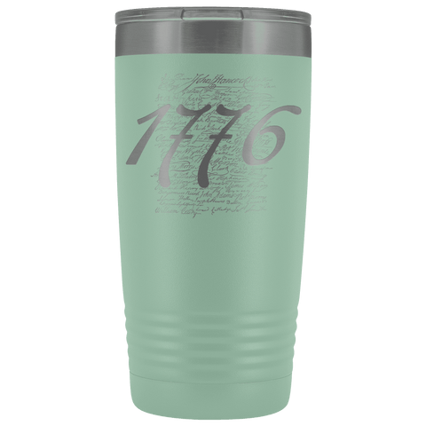 Image of 1776 Signers of the Declaration Stainless Etched Tumbler