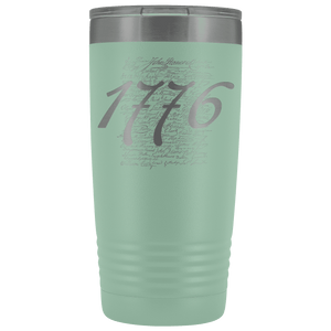 1776 Signers of the Declaration Stainless Etched Tumbler