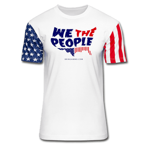 We The People Premium Stars & Stripes T-Shirt - white