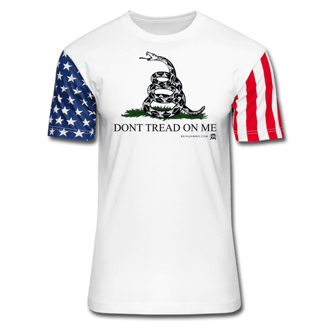 Image of Don't Tread On Me Premium Stars & Stripes T-Shirt - white