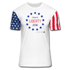 Freedom, Liberty, 1776 Premium Stars & Stripes T-Shirt - white