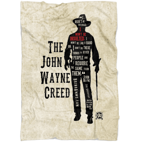 Image of The John Wayne Creed Premium Fleece Blanket