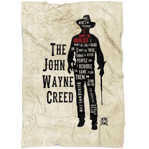 The John Wayne Creed Premium Fleece Blanket