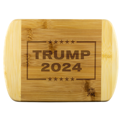 Image of Trump 2024 Engraved Real Wood Cutting Board - MADE IN THE USA!