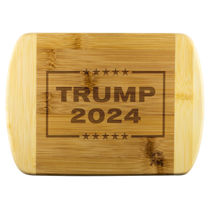 Trump 2024 Engraved Real Wood Cutting Board - MADE IN THE USA!
