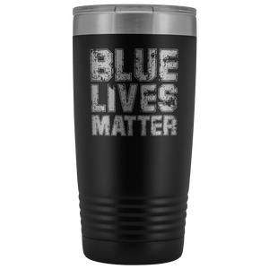 Blue Lives Matter Stainless Etched Tumbler