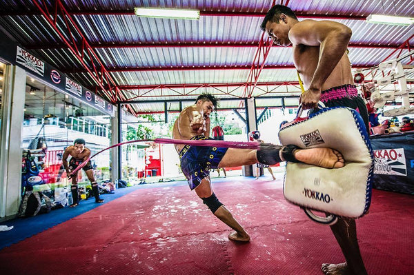 Muay Thai Training with Resistance Bands