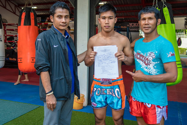 YOKKAO acquires talented fighter Yodchai from Muay Thai Camp in Sing Buri!