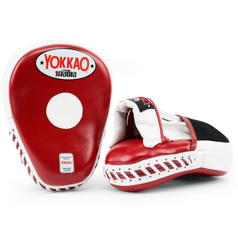 Focus Mitts Close-Finger Biking Red/White