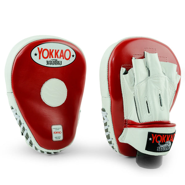 Focus Mitts Open Finger Biking Red/White