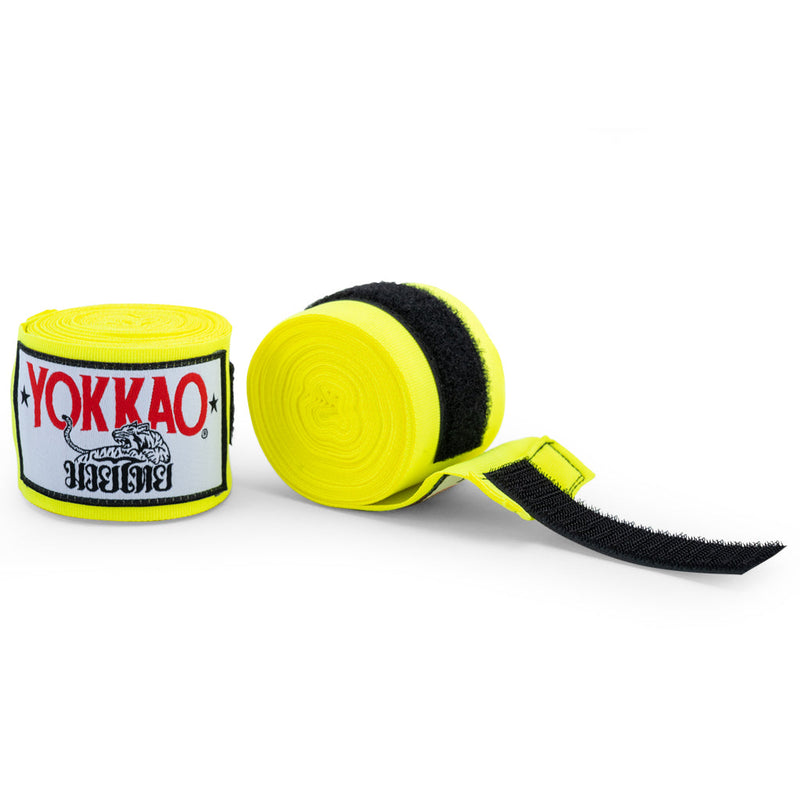 YOKKAO Muay Thai Hand Wraps Yellow Neon!
