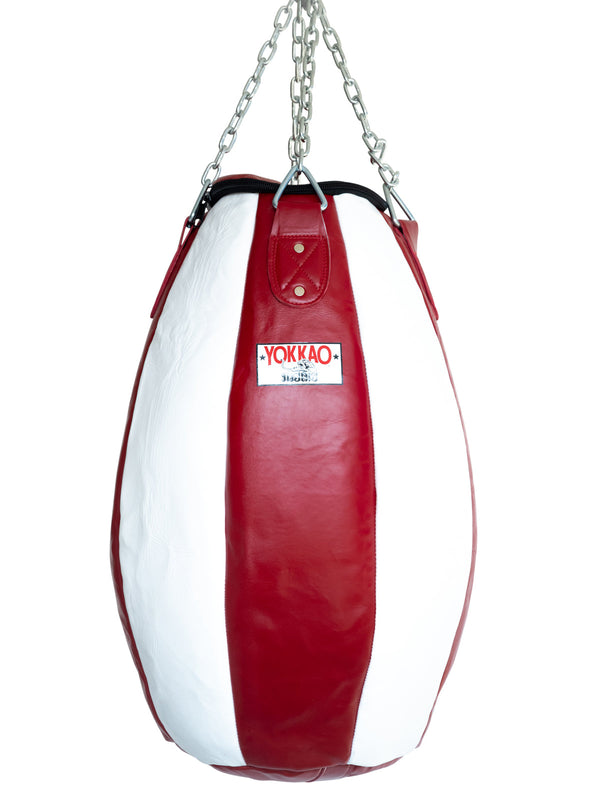 Tear Drop Heavy Bag Biking Red/White