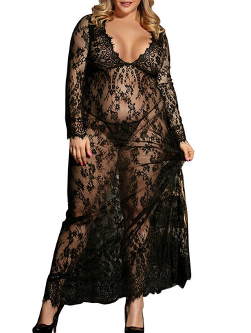 Maxi Lace Lingerie Dress - SmallTown Shop