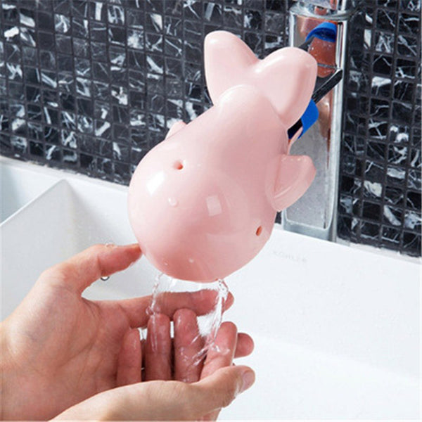 Baby Cute Dolphin Bathroom Brush Faucet Extenders