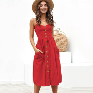 Sexy Party Boho Sundress Women Summer Dress - SmallTown Shop