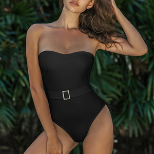 Mossha Bandeau bikini 2020 Diamond belt bodysuits - SmallTown Shop
