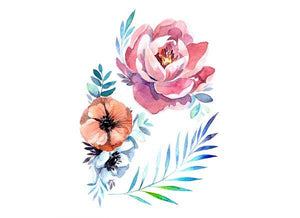 "Temporary Tattoos ""Flowers"""