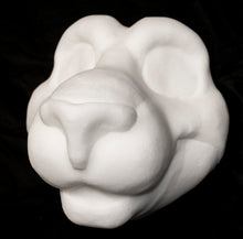 Load image into Gallery viewer, Feline soft foam head base for costumes, mascots and fursuits.