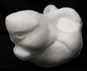 Rat soft foam head base for costumes, mascots and fursuits.