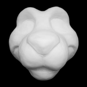 Critter soft foam head base for costumes, mascots and fursuits.