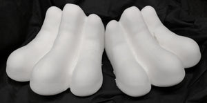 Three toe paw padding for costumes, mascots and fursuits