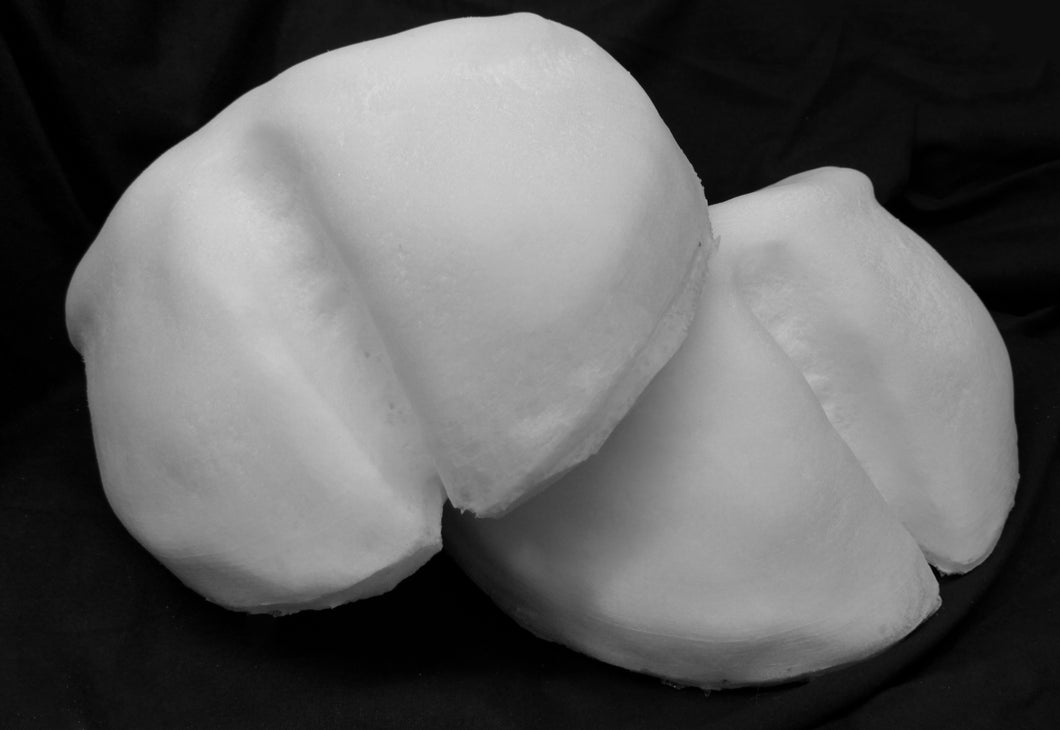 Cleft hoof Foam paw, toe padding, to make feet for costumes, mascots and fursuits. (1 pair)