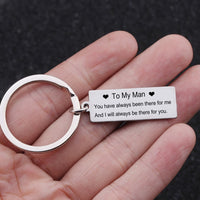 To My Man Keychain