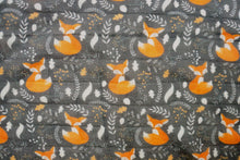 Load image into Gallery viewer, Fox Organic Muslin Swaddle