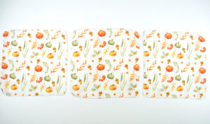 Harvest muslin - Organic muslin swaddle and travel size squares