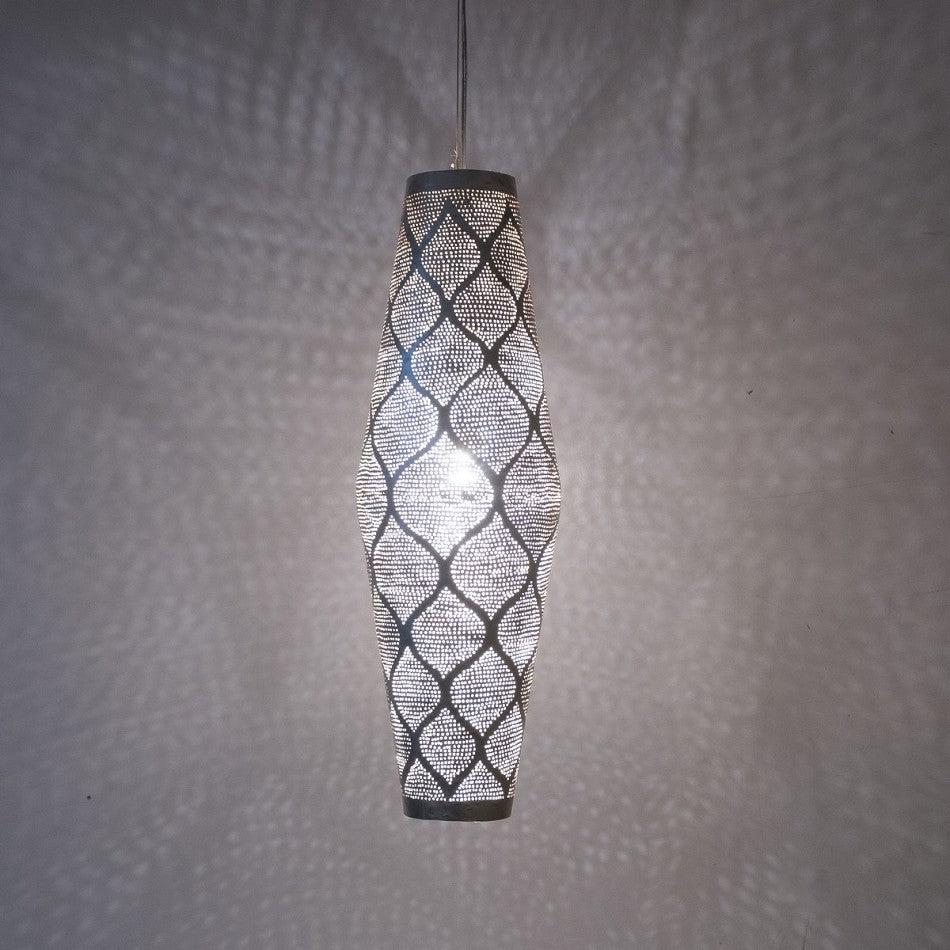 Hanging Light Lantern | Moorish Silver Ray - Moroccan Lamps