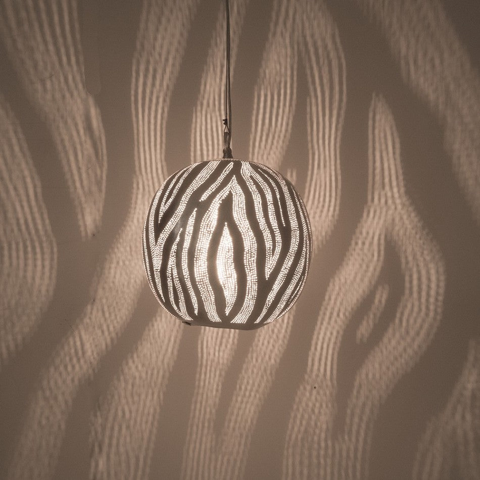 Moroccan Lamp Hanging | Lunar Ball Silver - Moroccan Lamps