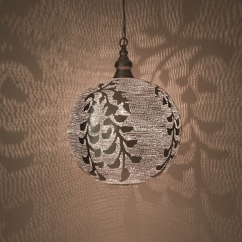 Brass Light Fixtures - Entryway Lights | Casablanca Verde Silver - Moroccan Lamps