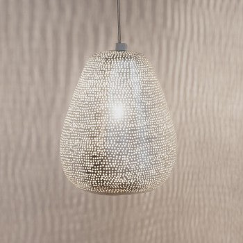Moroccan Lighting Fixtures | Stentorian Silver - Moroccan Lamps