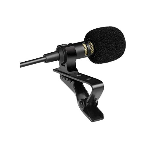 Lavalier Microphone, Lapel Condenser Collar mic with Easy Clip on System Specially for alvoxcon TG2 System