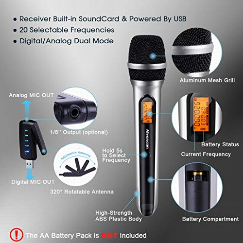USB Wireless Handheld Microphone System
