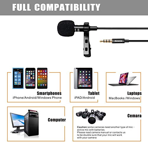 Lapel Microphone for Phone, Computer & Camera - Alvoxcon