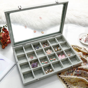 Jewelry holder with glass Cover