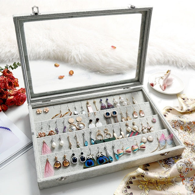 Load image into Gallery viewer, Jewelry holder with glass Cover