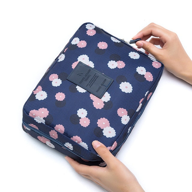 Load image into Gallery viewer, Multifunction travel Cosmetic Bag Neceser Women Makeup Bags Toiletries Organizer Waterproof Female Storage Make up Cases