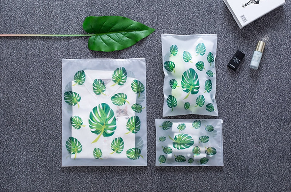 Load image into Gallery viewer, Transparent Plant Travel Makeup Bag