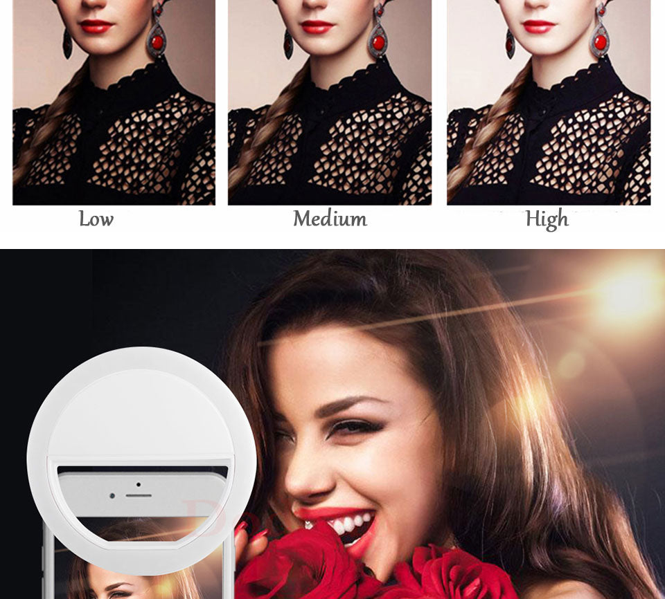 Load image into Gallery viewer, Rechargeable Selfie LED Lamp