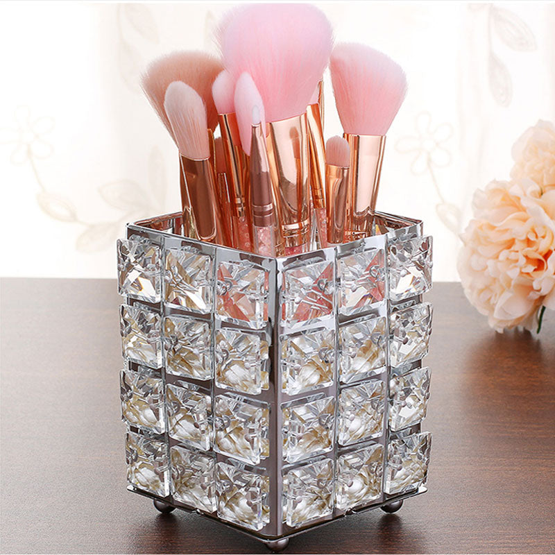 Load image into Gallery viewer, Crystal  Makeup Brushes Organizer