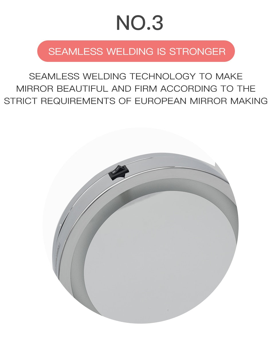 Load image into Gallery viewer, 10X Magnifying  LED Makeup Mirror