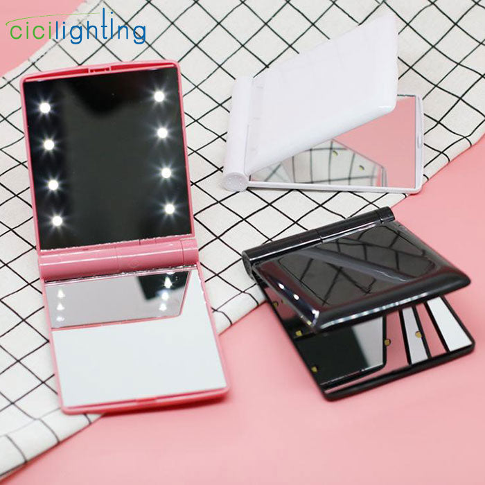 Load image into Gallery viewer, Folding LED Makeup Mirror