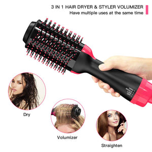 Professional 2 in 1 Electric Hot Air Curling Iron comb