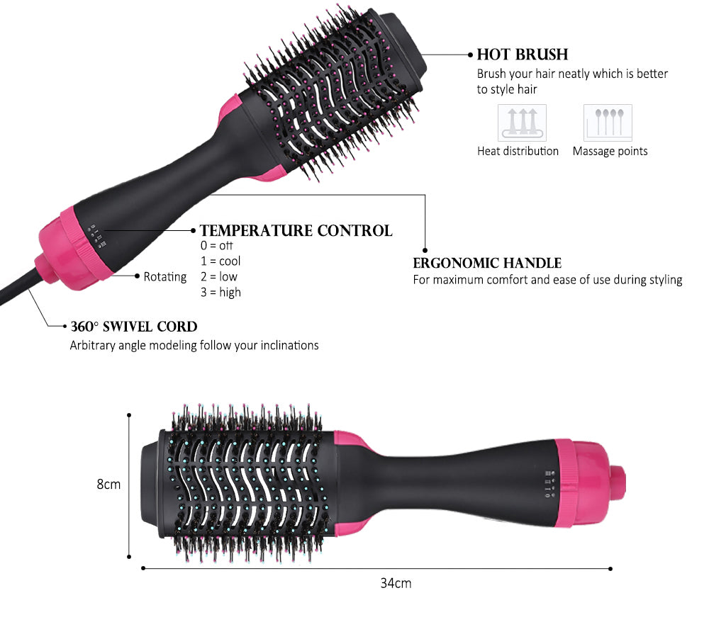 Load image into Gallery viewer, Professional 2 in 1 Electric Hot Air Curling Iron comb