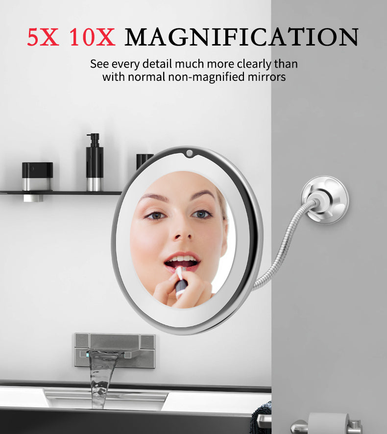 Load image into Gallery viewer, Magnifying LED lighted Makeup Mirror