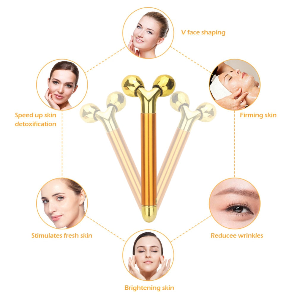 Load image into Gallery viewer, 24k Gold Skin Care Face Massager