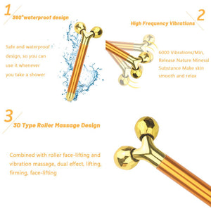 24k Gold Skin Care Face Massager